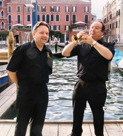 Mark Kesel and Ian Westley in Venice